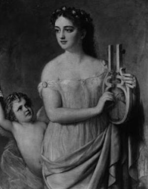 Эрато, муза любовной поэзии и свадебной