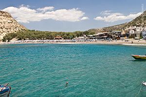 Лучшие пляжи Крита - Матала