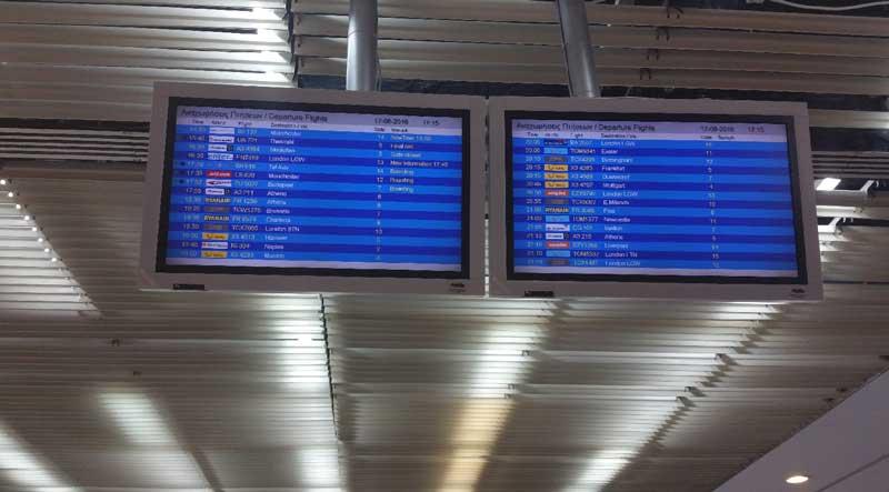 Онлайн табло аэропорт Родоса