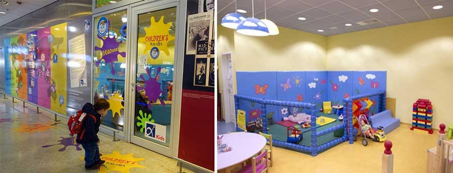 Детская комната в аэропорту Афин