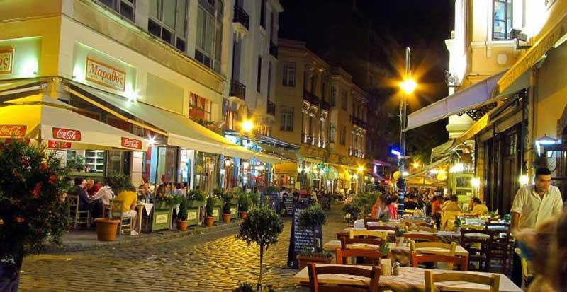 Уличные кафе в Салониках