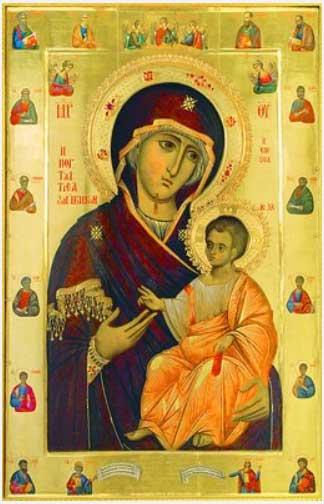 Иверская икона Пресвятой Богородицы Вратарница