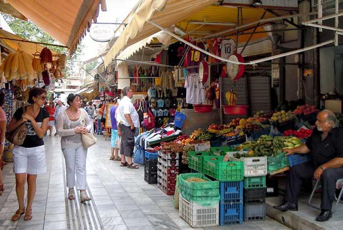 Уличные рынки на Крите