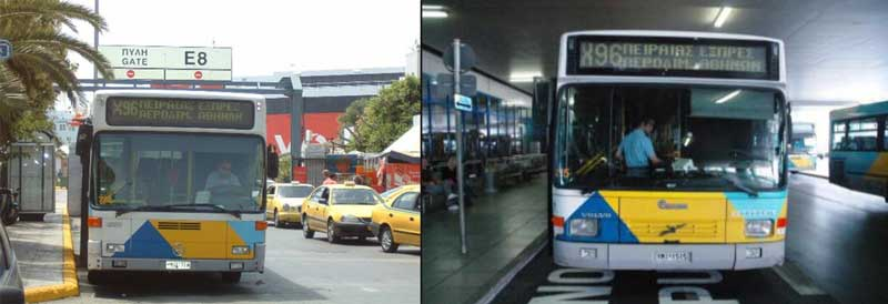 Автобус X96 из Аэропорта Афин до Парома