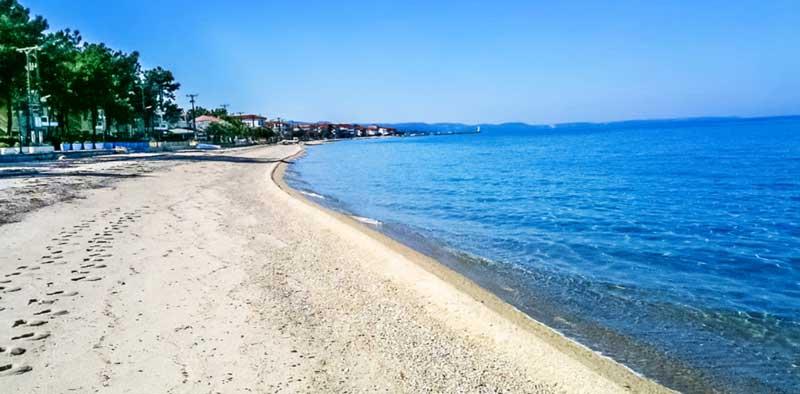 Пляж Anna Hotel 3 Халкидики Кассандра Пефкохори