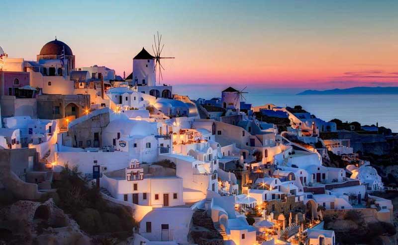 Город Ия - неповторимые закаты на острове Санторини в Греции