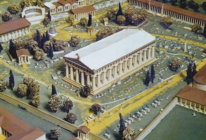 Макет Храма Зевса в Олимпии