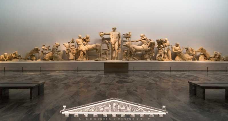 Скульптурные группы Храма Зевса в Олимпии