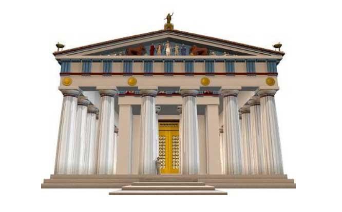 Фасад храма Зевса в Олимпии