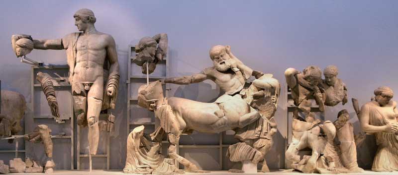 Западный фронтон Храма Зевса в Олимпии