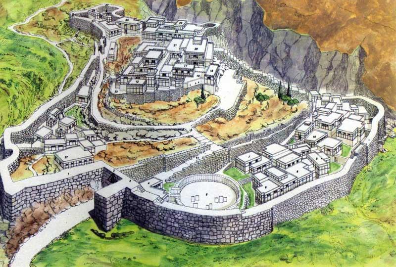 Эскиз города Микены