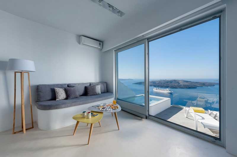 Отели Санторини с видом на залив