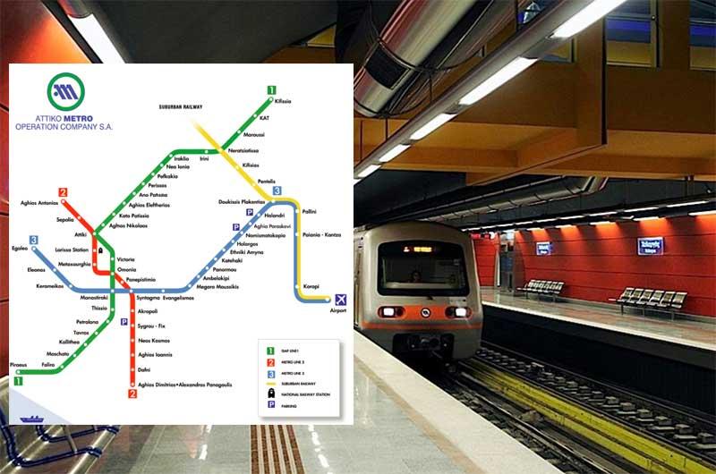 Схема метро Афины