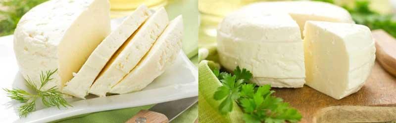 Сулугуни и Адыгейский сыр для греческого салата