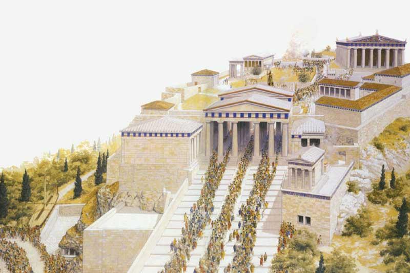 Главные ворота Акрополя Пропилеи История