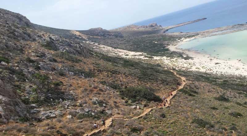 Спуск к бухте Балос