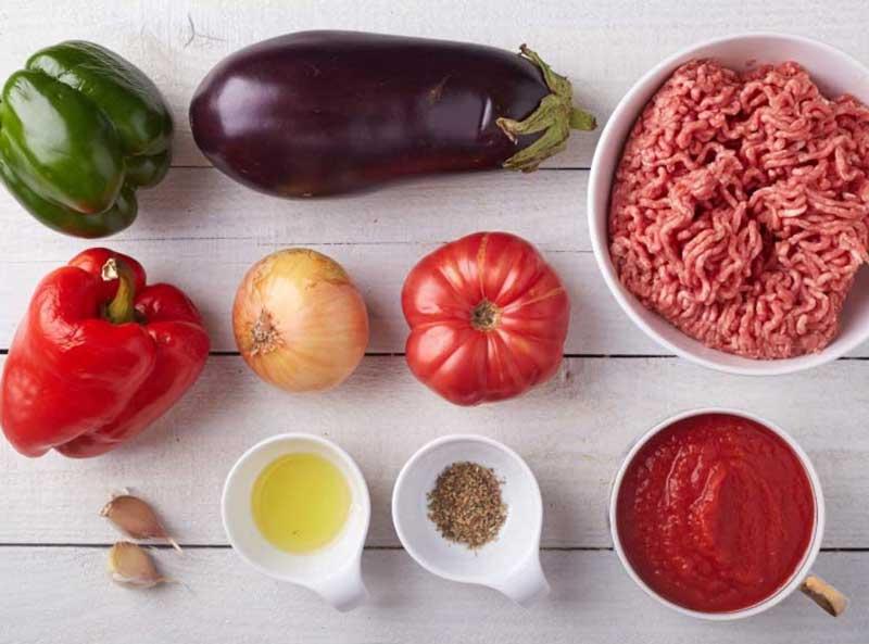 Ингредиенты для мусаки по гречески