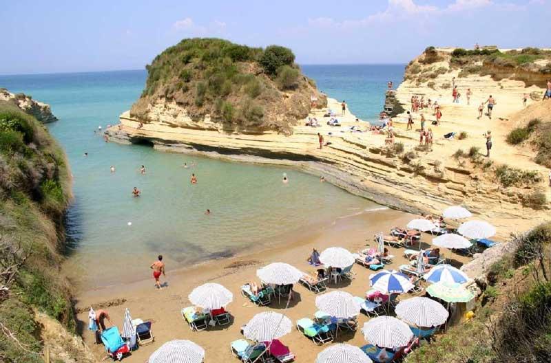 Пляжи Керкира Корфу