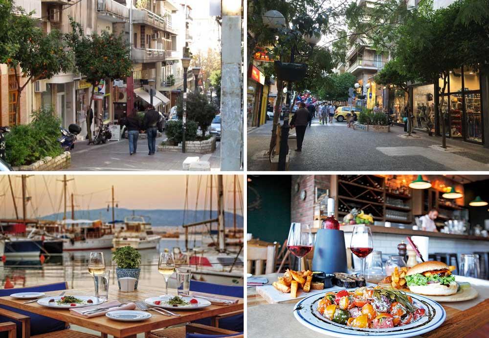 Магазины и рестораны Пирея