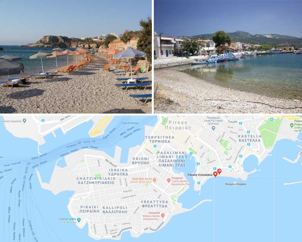 Пляжи Пирея