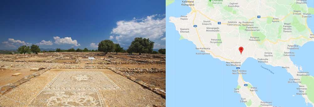 Руины античного городка Олинфос