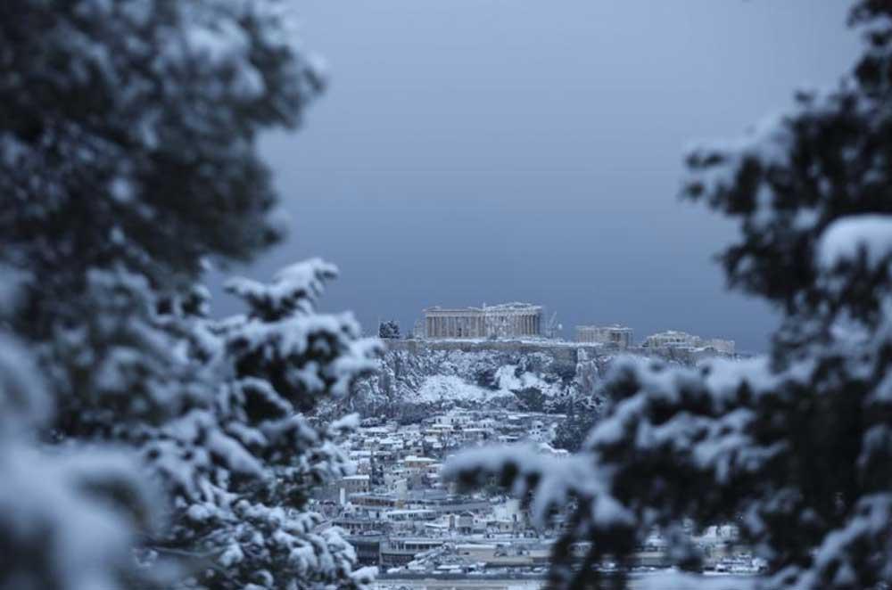 Афины достопримечательности зимой