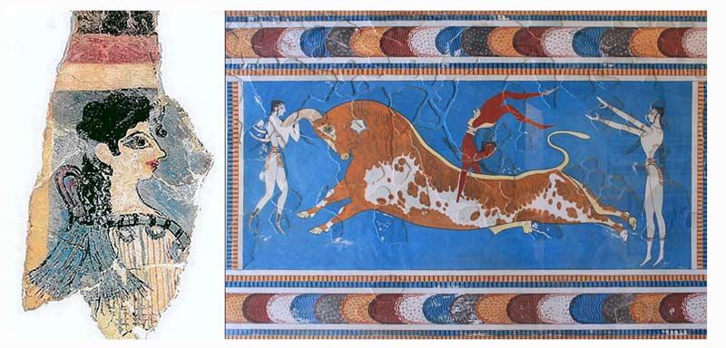 Фрески Парижанка и Игры с быком