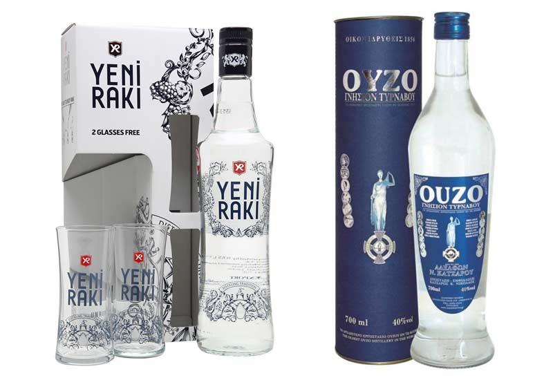 Греческая водка Раки и Узо