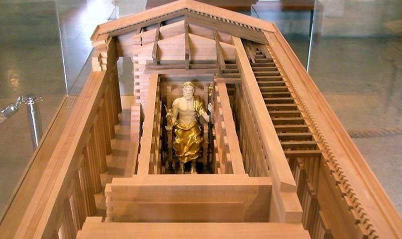 Расположение Зевса в Храме