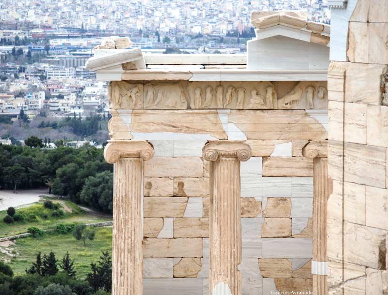 Архитектурные и статуи Храма Ники Аптерос