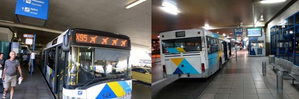 Автобус из аэропорта в центр Афин
