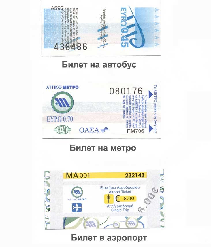 Типы и виды билетов