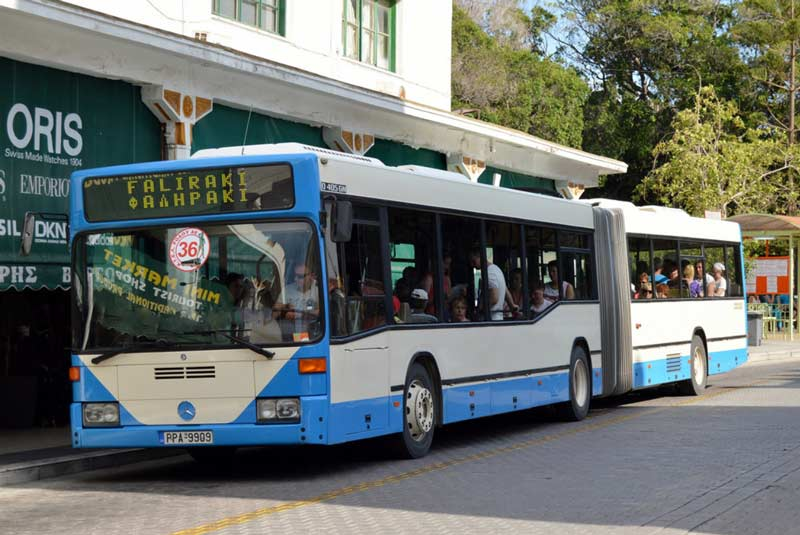 Общественный транспорт на Родосе