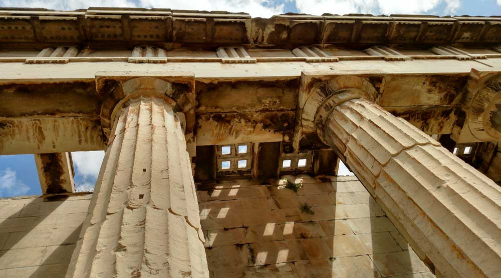 Скульптуры храма Гефеста в Афинах