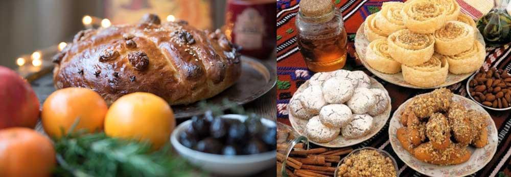 Напитки и еда на Рождество в Греции