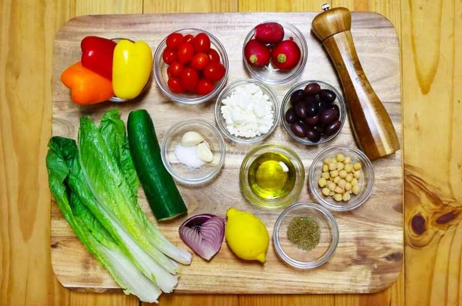Ингредиенты для греческого классического салата