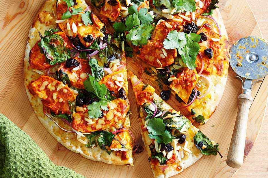 Пицца из курицы с греческим йогуртом