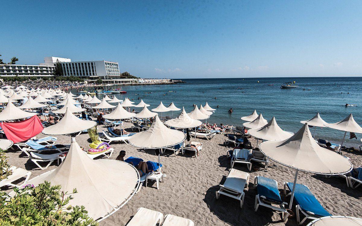 Пляж возле отеля aldemar paradise village